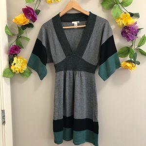 H&M Wool Blend Knit Dress w/ Flared Sleeves